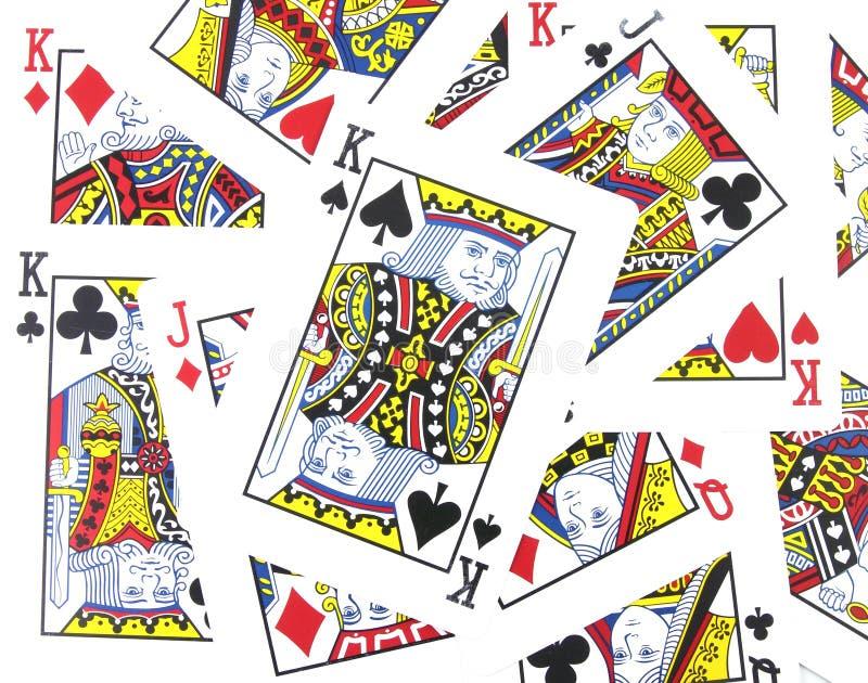 Jack, regina, schede del re giocare immagine stock libera da diritti