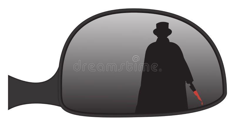 Jack The Ripper In Car-Seiten-Spiegel stock abbildung