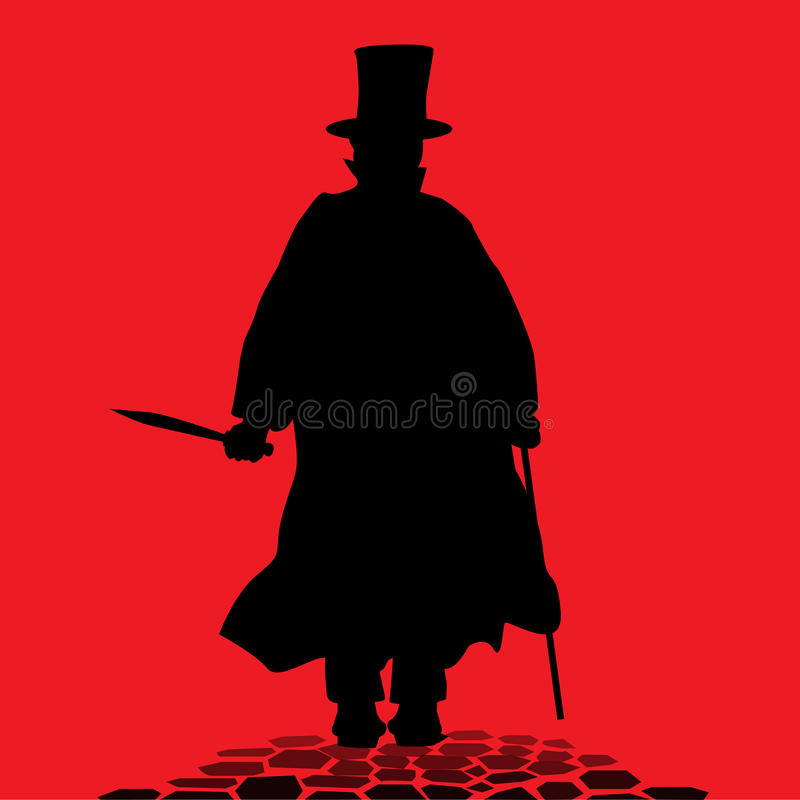 Jack the Ripper royalty free illustration