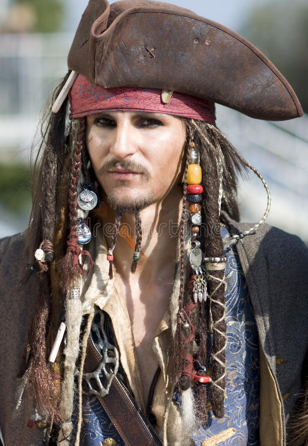 Jack Sparrow costume royalty free stock images