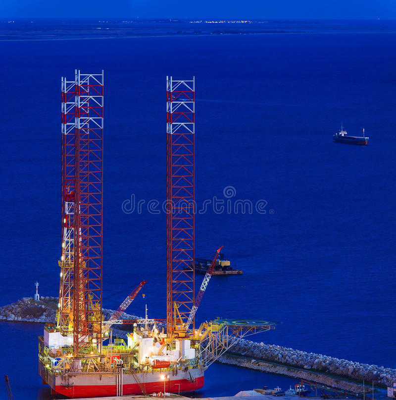 Jack up rig royalty free stock photo