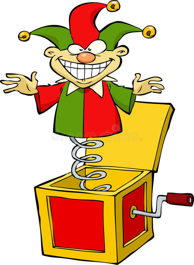 Jack w pudełku ilustracji