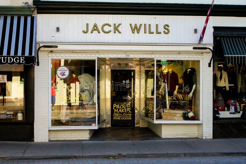 Jack Wills, Newport, RI. Jack Wills, on Thames Street, Newport, RI stock images