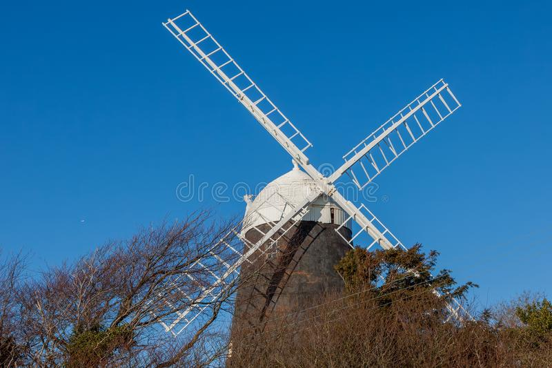 Jack Windmill på vinters dag i Clayton East Sussex på Januari 3, 2009 arkivbild