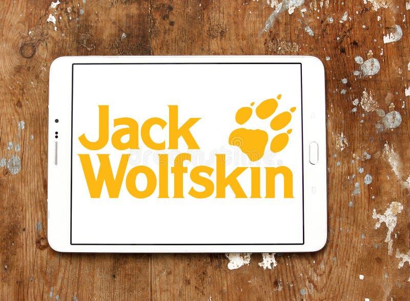 Jack Wolfskin-het embleem van het kledingsmerk royalty-vrije stock foto's