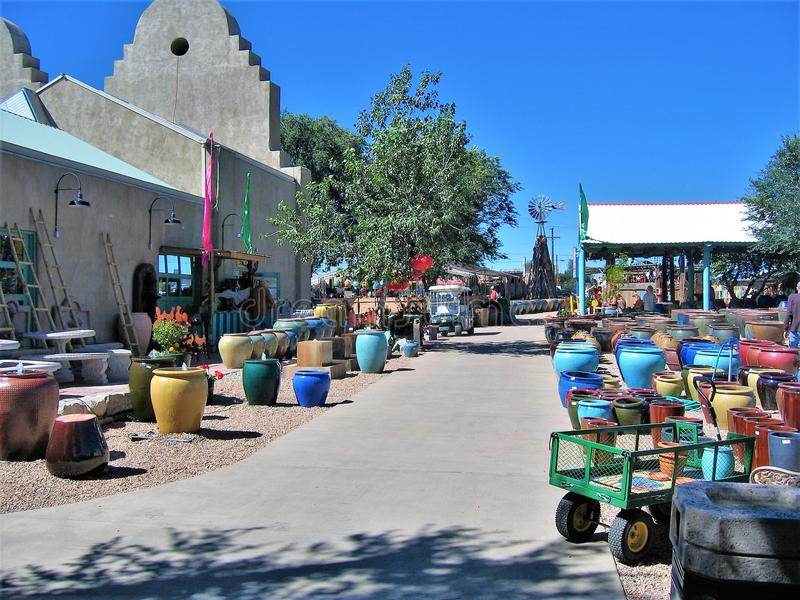 Jackalope Market in Santa Fe, New Mexico. A great place to shop while visiting Santa Fe is Jackalope, a large, multi-building market that offers a large variety royalty free stock images