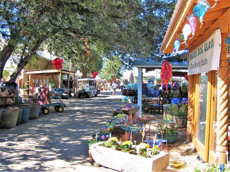 Jackalopemarkt in Santa Fe, New Mexico stock afbeelding