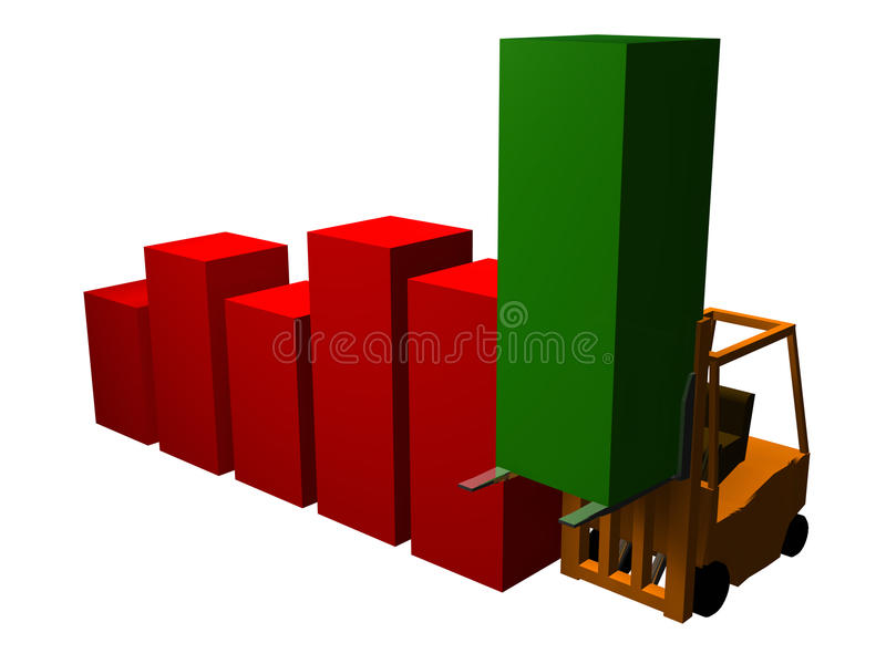 Download Jacked Graph 3 stock illustration. Image of recovery, construction - 9901337