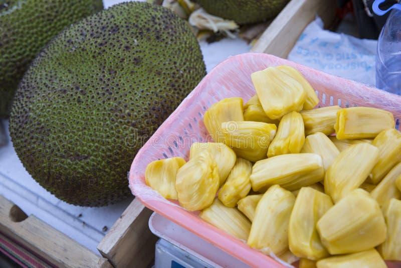 Jackfruit Jack Fruit. Fruits. Healthy Eating. Vegan Raw Food. Fresh Organic Ripe Jackfruit Jack Fruit At Street Farmer Market Grocery Store In Koh Samui royalty free stock photography