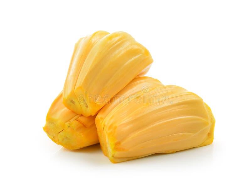 Jackfruit op witte achtergrond stock afbeelding