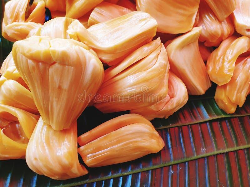Jackfruit van het fruitmarkt van Thailand stock afbeeldingen
