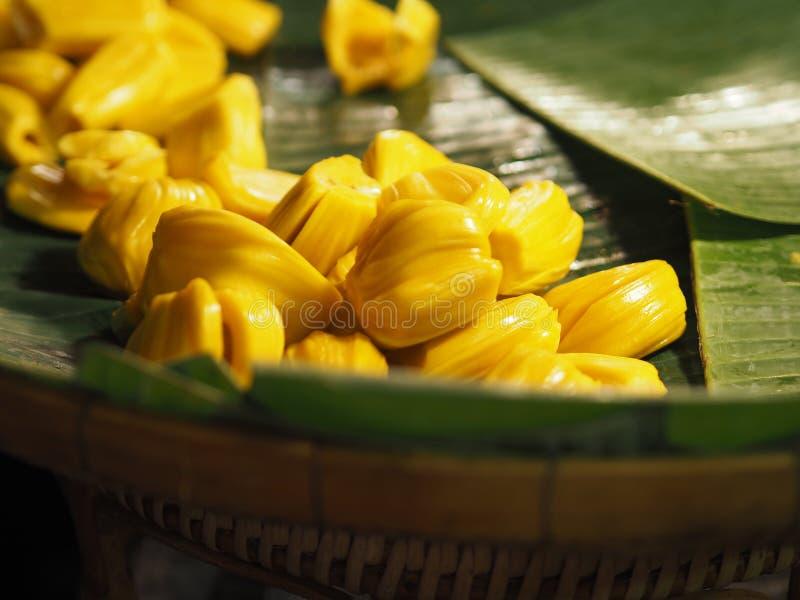 Jackfruit yellow fruit sweet. Closeup jackfruit yellow fruit sweet stock photography