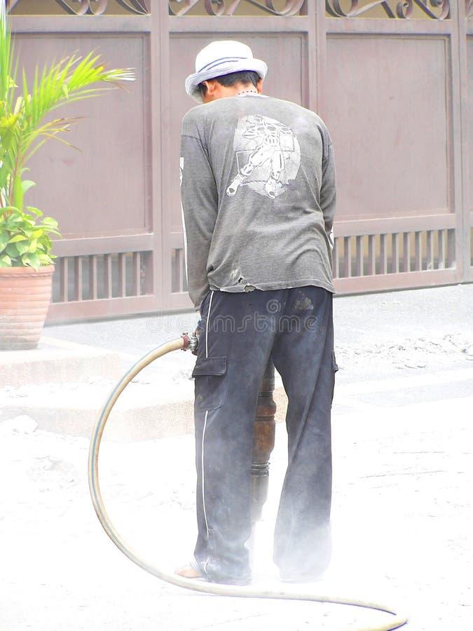 jackhammering опасный стоковое фото rf