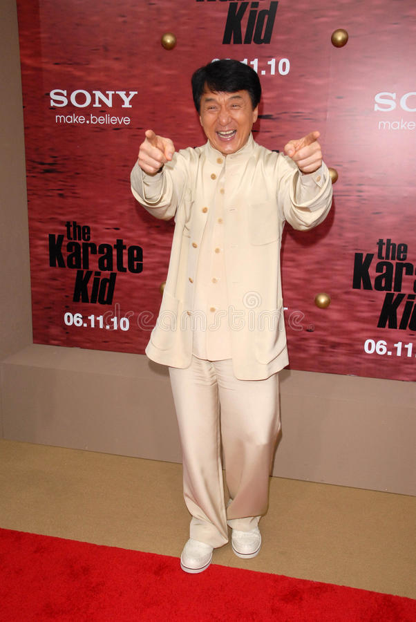Jackie Chan. At The Karate Kid Los Angeles Premiere, Mann Village Theatre, Westwood, CA. 06-07-10 royalty free stock images