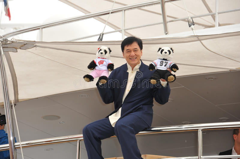 Jackie Chan. CANNES, FRANCE - MAY 16, 2013: Jackie Chan at photocall at the 66th Festival de Cannes for his new movie Skiptrace stock photography