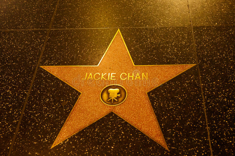 Jackie Chan em Los Angeles foto de stock