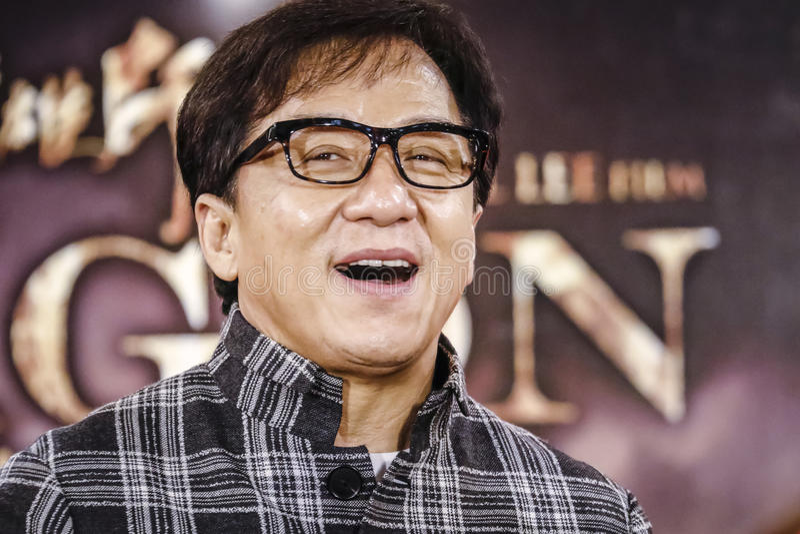Jackie Chan en Malaisie photographie stock libre de droits