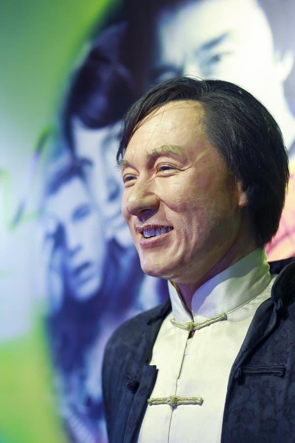 Jackie Chan figura woskowa fotografia stock