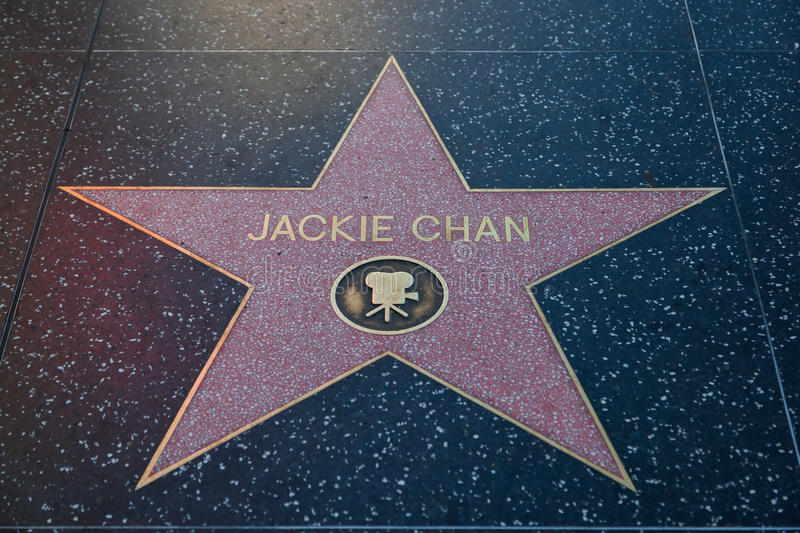 Jackie Chan Hollywood Star foto de stock royalty free