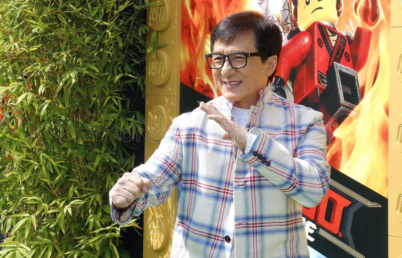 Jackie Chan. At the Los Angeles premiere of `The LEGO Ninjago Movie` held at the Regency Village Theatre in Westwood, USA on September 16, 2017 royalty free stock image