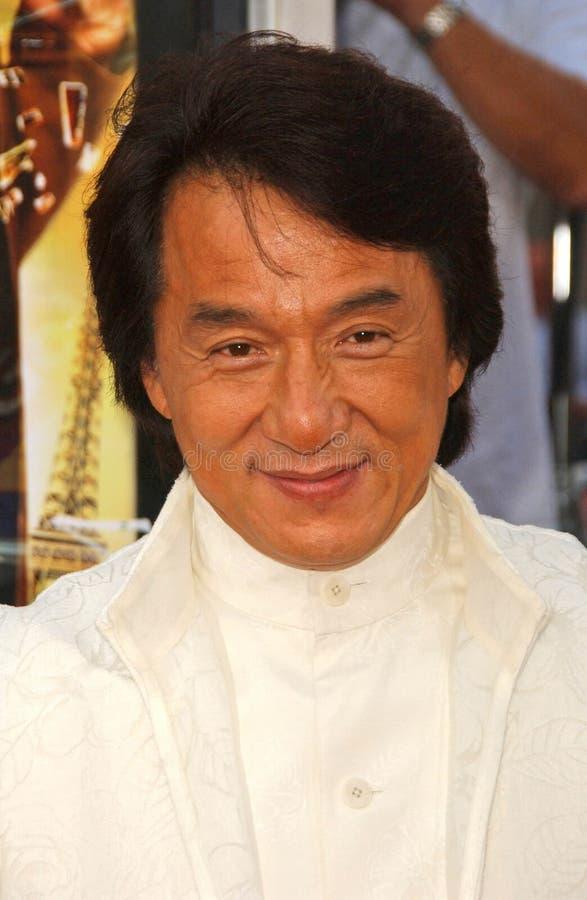 Jackie Chan, précipitation photos libres de droits