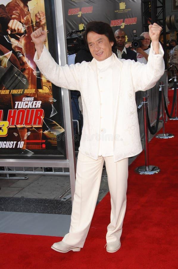 Jackie Chan, précipitation images libres de droits