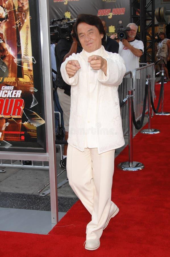 Jackie Chan, précipitation images stock