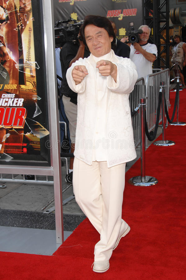 Jackie Chan, Rush. Jackie Chan at the Los Angeles premiere of Rush Hour 3 at Grauman's Chinese Theatre, Hollywood. July 31, 2007 Los Angeles, CA Picture: Paul stock images