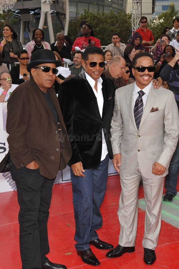 Jackie Jackson, Marlon Jackson, Tito Jackson, Michael Jackson, Jacksons royalty-vrije stock foto's