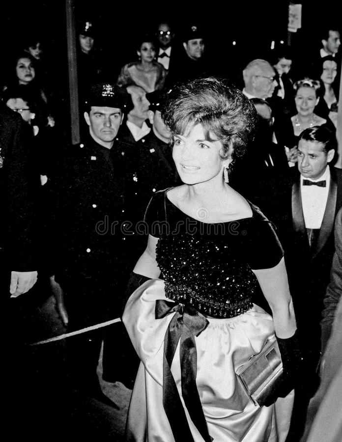 Jackie Kennedy At Lincoln Center NY fotografie stock libere da diritti