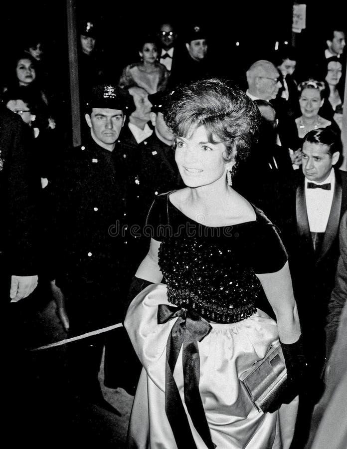 Jackie Kennedy Przy Lincoln centrum NY zdjęcia royalty free
