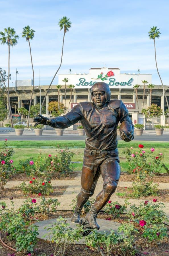Jackie Robinson Pamiątkowa statua przy rose bowl zdjęcie stock