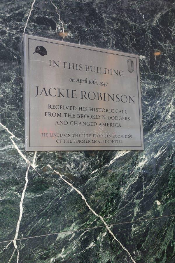 Jackie Robinson plakieta zdjęcia stock