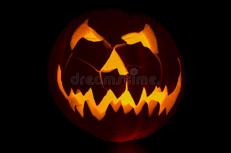 Jackolantern. Carved jackolantern ready for halloween royalty free stock image