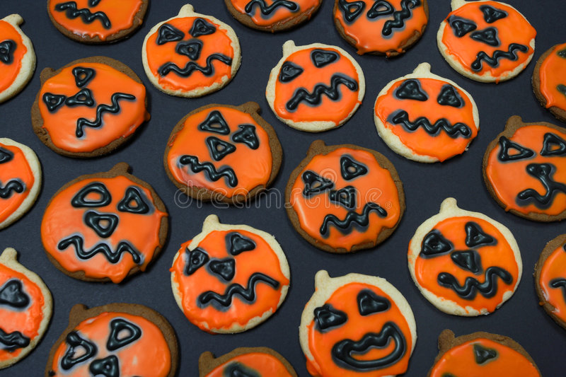 Jackolantern Cookies stock image