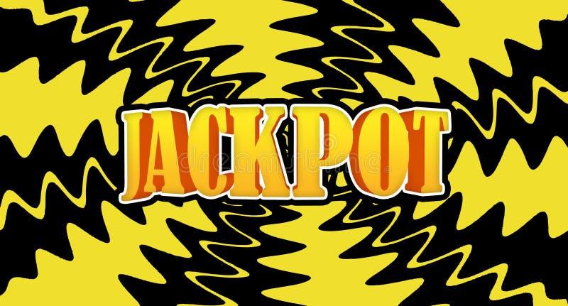 Jackpot. Vegas slot-machine jackpot with retro background royalty free illustration