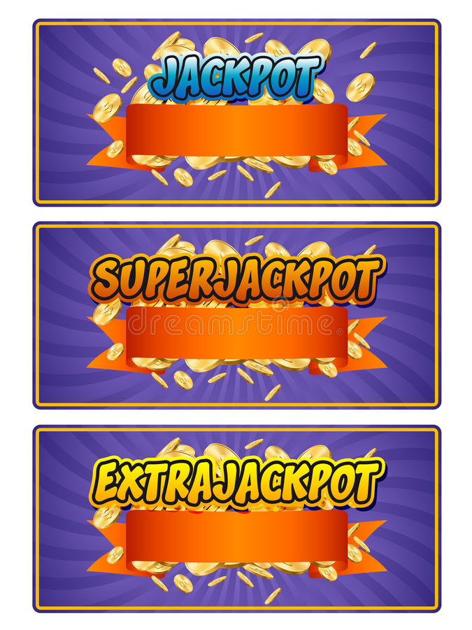 jackpot vektor illustrationer