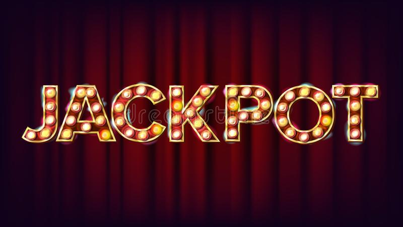 Jackpot Banner Vector. Casino Shining Light Sign. For Lottery, Poker Advertising Design. Risk Illustration vector illustration
