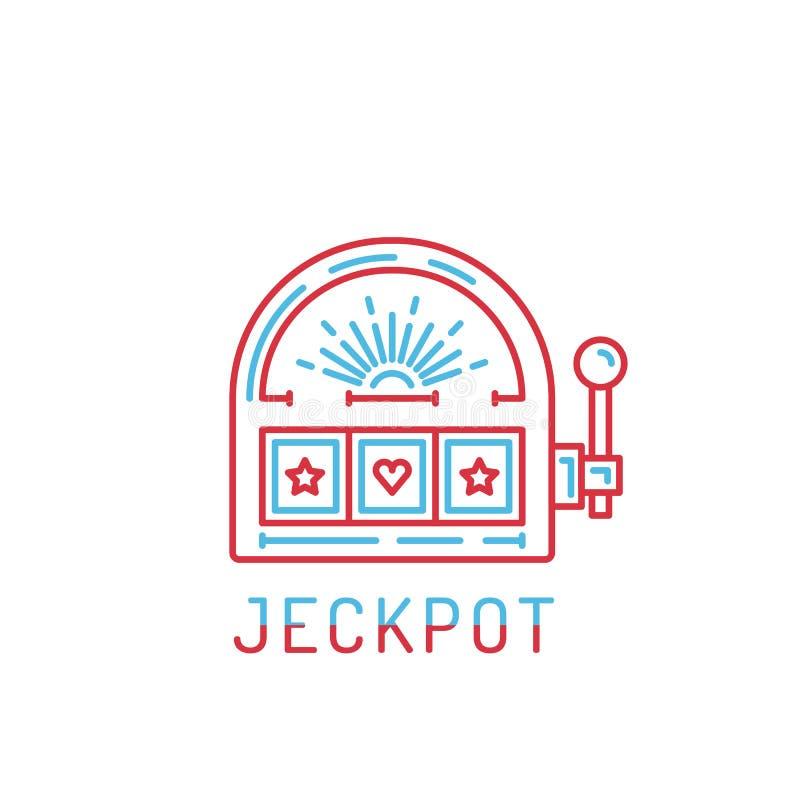 Jackpot do slot machine ilustração royalty free