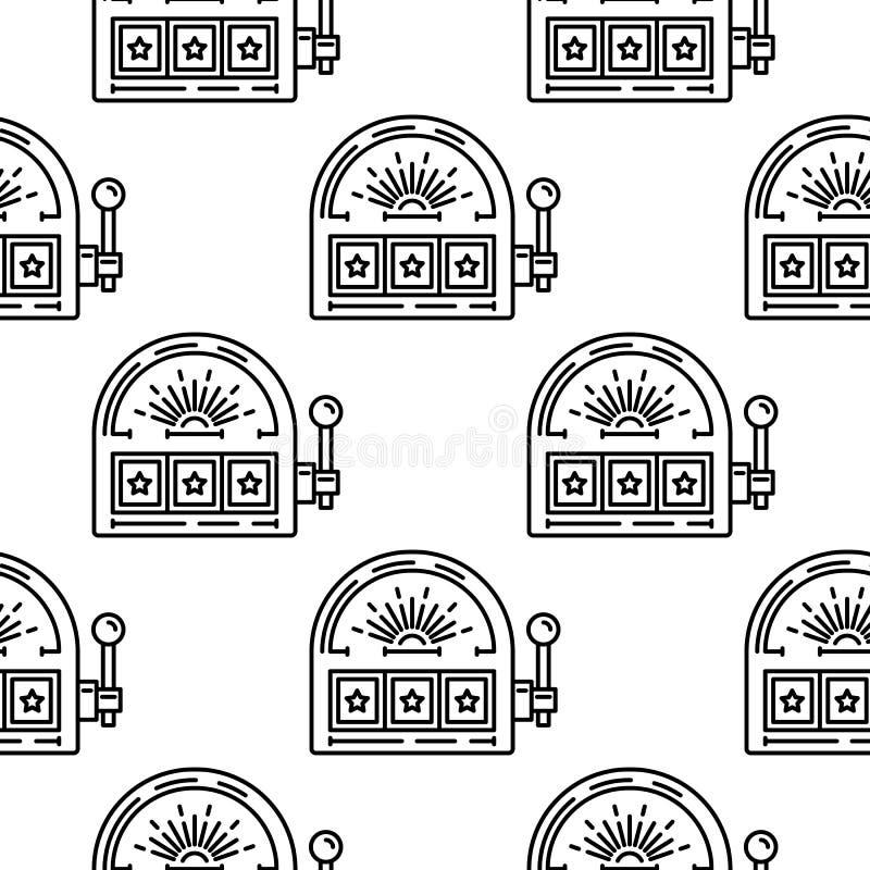 Jackpot do slot machine ilustração do vetor