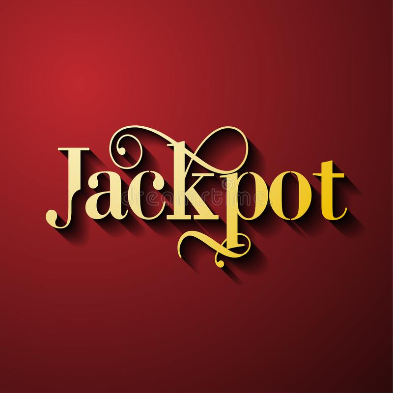 Jackpot - gambling game bright banner with winning. royalty free illustration