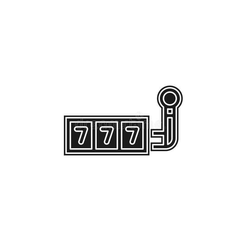 777 jackpot icon, vector casino gambling, machine slot royalty free illustration