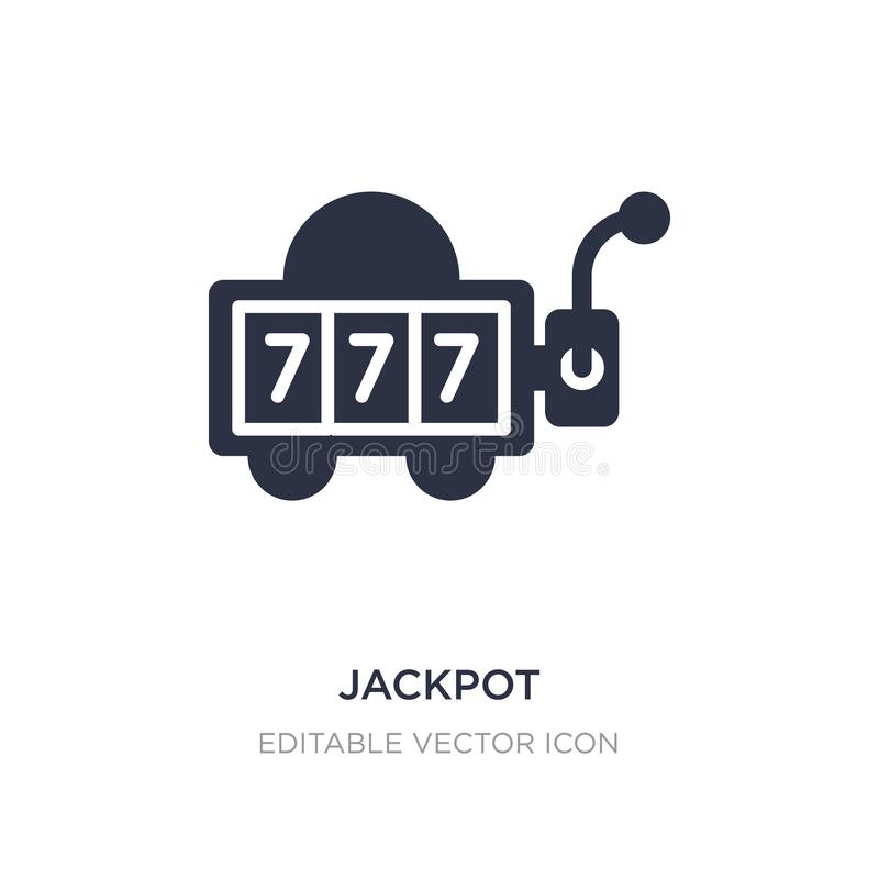 jackpot icon on white background. Simple element illustration from Entertainment concept stock illustration