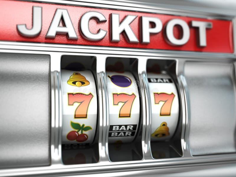 Jackpot no slot machine ilustração do vetor