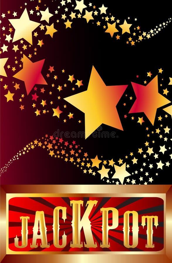 Jackpot shooting stars vector stock illustration
