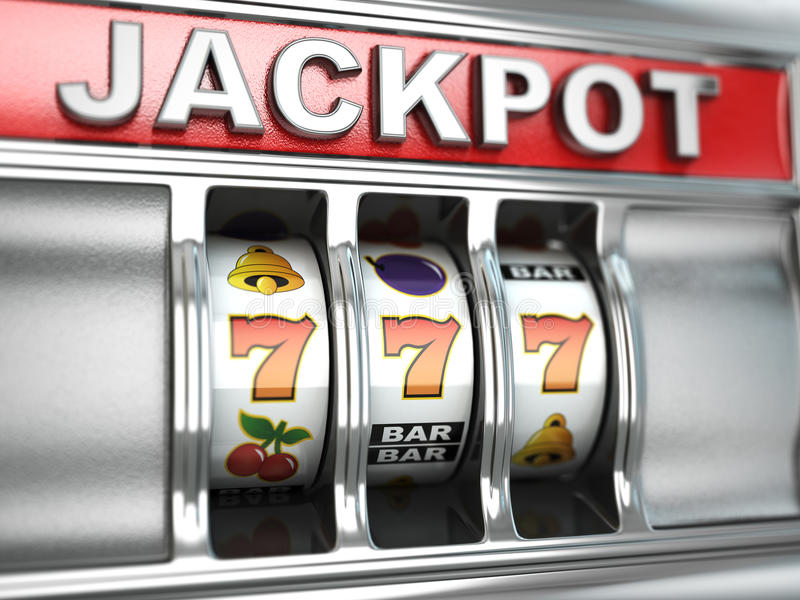 Jackpot on slot machine vector illustration