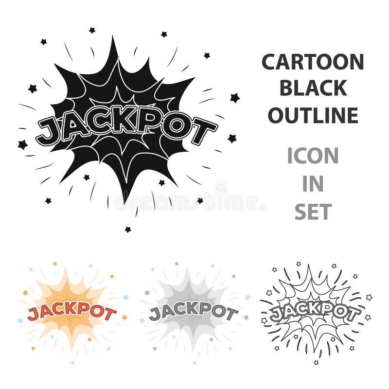 Jackpot, winnings at the casino. The greatest win in the game club.Kasino single icon in cartoon style vector symbol. Stock web illustration vector illustration
