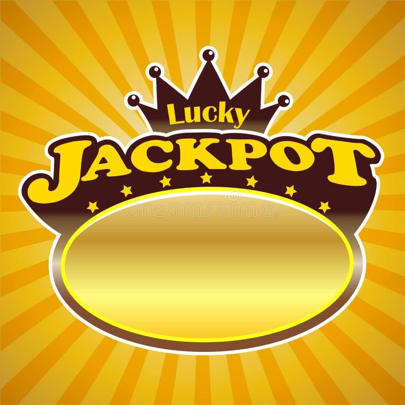 Jackpot-Zeichen lizenzfreie abbildung