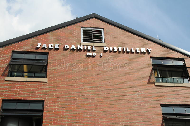 Jacks Daniels spritfabrik royaltyfri bild