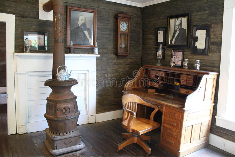 Jacks Daniels spritfabrik - kontor royaltyfria foton